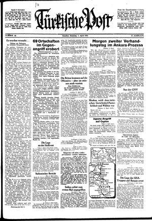Türkische Post vom 07.04.1942