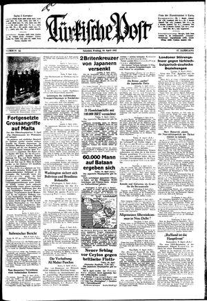 Türkische Post vom 10.04.1942