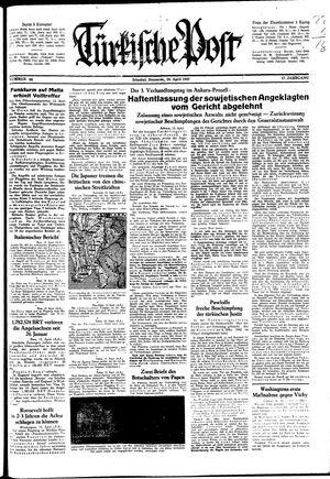 Türkische Post vom 16.04.1942