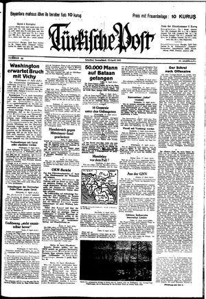 Türkische Post vom 18.04.1942
