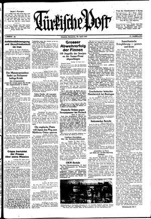 Türkische Post vom 23.04.1942
