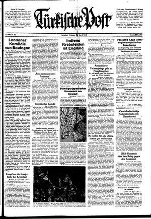 Türkische Post vom 24.04.1942