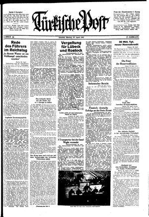 Türkische Post vom 27.04.1942
