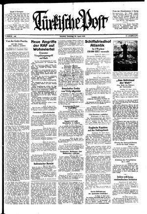 Türkische Post vom 28.04.1942