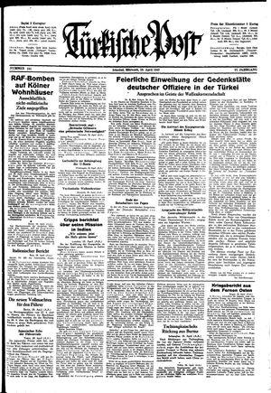 Türkische Post vom 29.04.1942