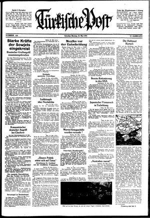 Türkische Post vom 25.05.1942