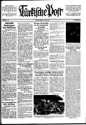 Türkische Post vom 01.06.1942
