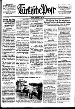 Türkische Post vom 04.06.1942