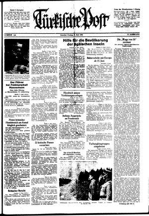 Türkische Post vom 05.06.1942