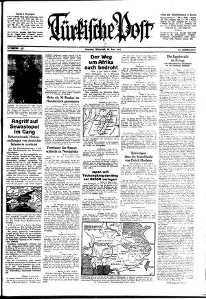 Türkische Post vom 10.06.1942