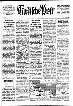 Türkische Post vom 16.06.1942