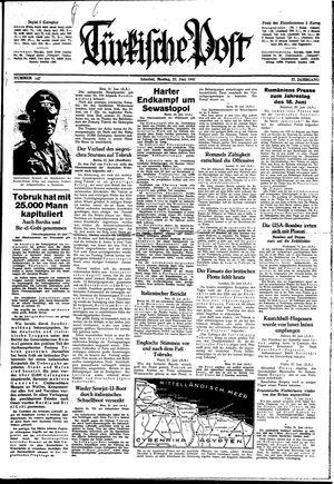 Türkische Post vom 22.06.1942