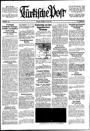 Türkische Post vom 23.06.1942