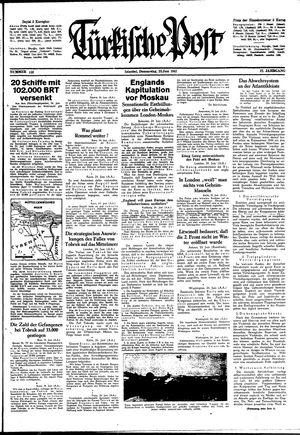 Türkische Post vom 25.06.1942