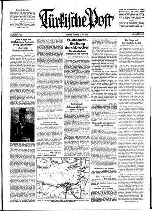 Türkische Post vom 03.07.1942