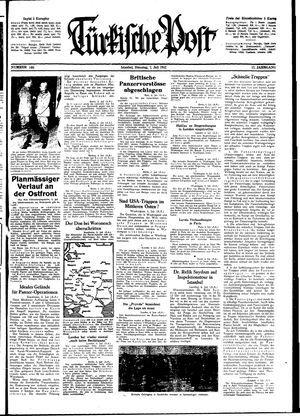 Türkische Post vom 07.07.1942
