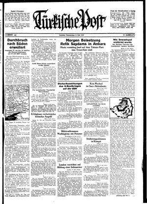 Türkische Post vom 09.07.1942