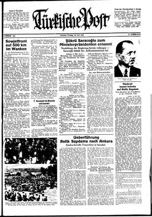 Türkische Post vom 10.07.1942