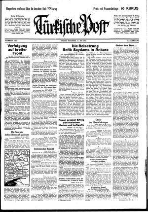 Türkische Post vom 11.07.1942