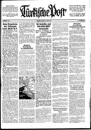 Türkische Post vom 13.07.1942