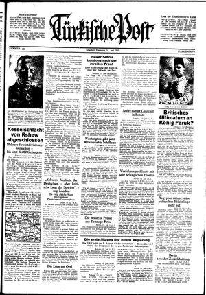 Türkische Post vom 14.07.1942