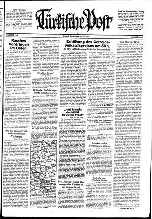 Türkische Post vom 16.07.1942