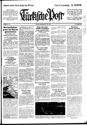 Türkische Post vom 18.07.1942