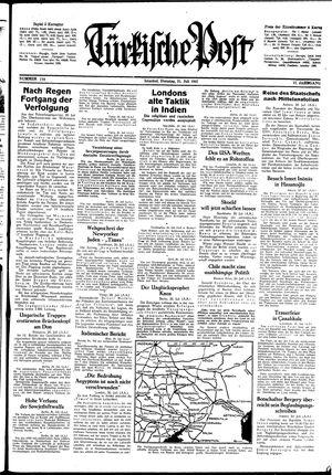 Türkische Post vom 21.07.1942