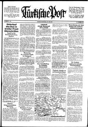 Türkische Post vom 23.07.1942
