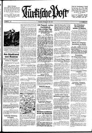 Türkische Post vom 24.07.1942