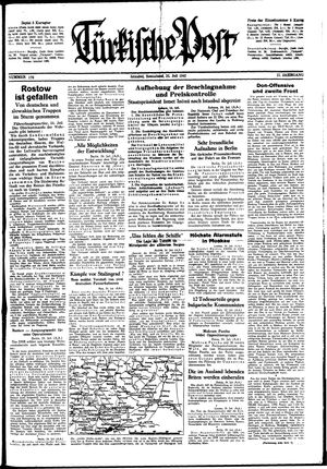 Türkische Post vom 25.07.1942