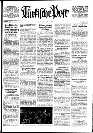 Türkische Post vom 27.07.1942