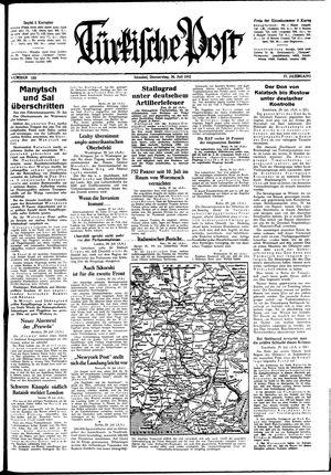 Türkische Post vom 30.07.1942