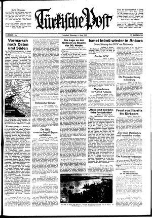 Türkische Post vom 04.08.1942