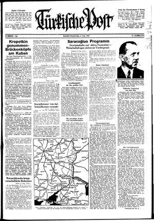 Türkische Post vom 06.08.1942