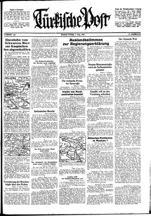 Türkische Post vom 07.08.1942