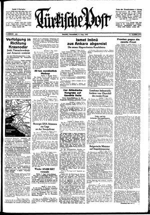 Türkische Post vom 08.08.1942
