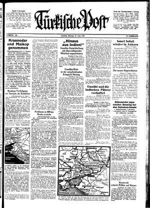 Türkische Post vom 10.08.1942