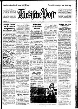 Türkische Post vom 11.08.1942