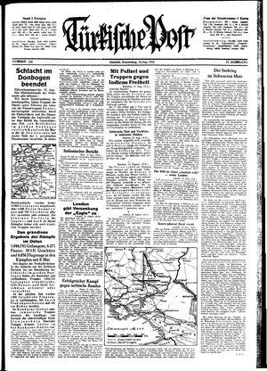 Türkische Post vom 13.08.1942