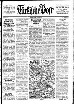 Türkische Post vom 14.08.1942