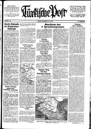 Türkische Post vom 15.08.1942