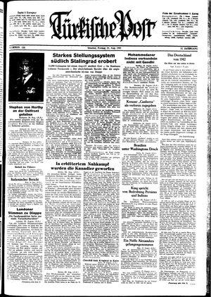 Türkische Post vom 21.08.1942
