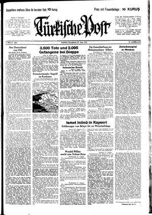 Türkische Post vom 22.08.1942