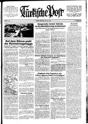 Türkische Post vom 26.08.1942