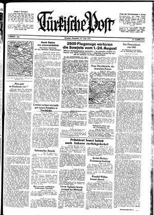 Türkische Post vom 27.08.1942