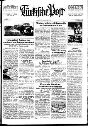 Türkische Post vom 02.09.1942