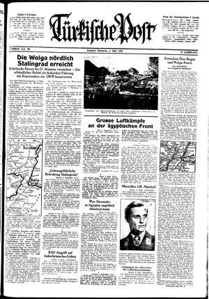 Türkische Post vom 03.09.1942