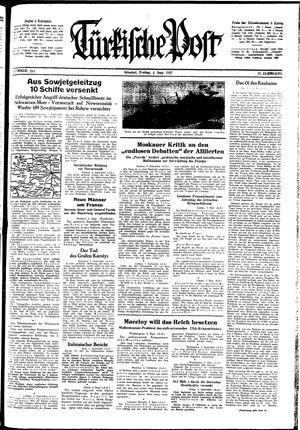 Türkische Post vom 04.09.1942