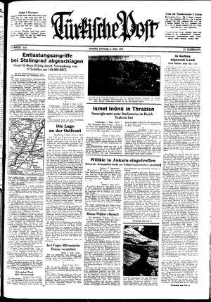 Türkische Post vom 08.09.1942